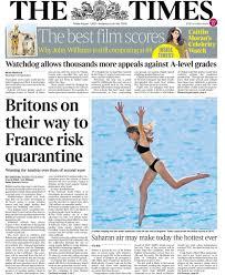Newspaper headlines: France 'quarantine risk' and Flack mother's 'fury' - BBC  News
