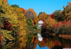 peaceful autumn scene lakes nature