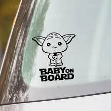Baby On Board Car Vinyl Decal Sticker Yoda Londondecal