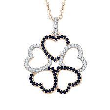 katarina g set multi heart diamond