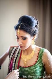 hair and makeup for indian brides