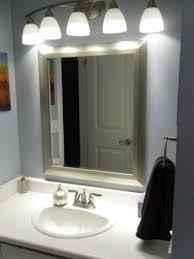bathroom vanity lights above mirror