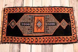 burnt orange turkish malatya small rug