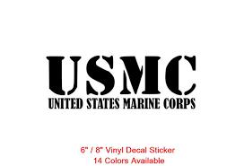 Usmc United States Marine Corps Die Cut Decal Car Window Wall Bumper Phone Laptop Sticker Wish