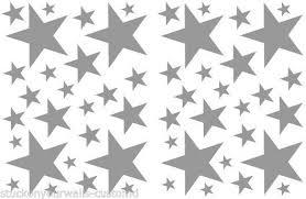 52 Satin Silver Stars Vinyl Bedroom Wall Decals Stickers Teen Girls Dorm Room For Sale Online