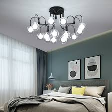 ceiling lamp with clear glass shade 15