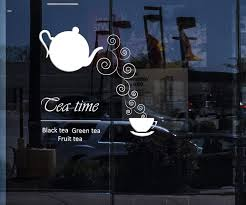 Window And Wall Sticker Black Tea Fruit Tea Green Tea Cool Decor For K Wallstickers4you