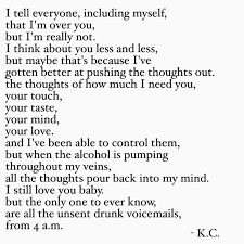 breakup drunk heartbreak love poem