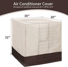Amazon.com: Qualward Air Conditioner Cover for Outside Units, AC Cover for  Outdoor Central Unit Heavy Duty Water-Resistant Design - Square Fits up to  30 x 30 x 32 Inches: Home & Kitchen