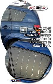 Simulated Window Louver Decal Set 1 For Pontiac Vibe