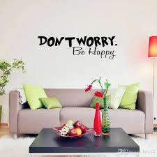 Dont Worry Be Happy Wall Stickers Quote Art Funny Cheerful Decal Decorative Vinyl Stickers Home Decor Wall Decals Sayings Wall Decals Sticker From Kity12 2 42 Dhgate Com