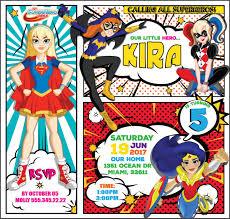 Invitacion Ninas De Superheroes De Dc Cumpleanos De Batgirl