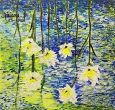Dreaming with daffodils Painting by Adriana Becker