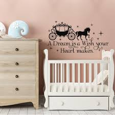 A Dream Is A Wish Your Heart Makes Cinderella Quote Wall Decal Fairy Wall Stickers For Living Room Girls Bedroom Home Decoration Vinyl Wall Art Decals Vinyl Wall Art Quotes From Onlybrand