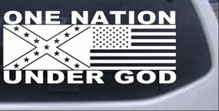 One Nation Under God Confederate And American Flag Car Or Truck Window Decal Sticker Rad Dezigns