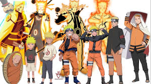 Naruto characters: Uzumaki Naruto's Evolution (All forms) - YouTube