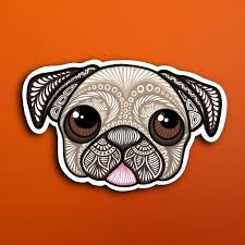 Pug Sticker Waterproof