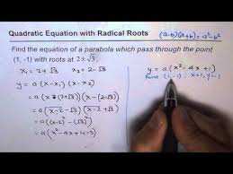 11 find quadratic equation from given