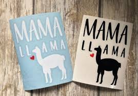 Mama Llama Decal Mama Llama Llama Decal Llama Gifts For Etsy