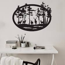 Forest Wall Decal Woodland Scene Decor Decals Market