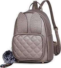 rabbit ear cute mini leather backpack