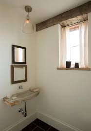 concrete wall mount sink and stacked