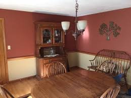 paint colors for oak dining room
