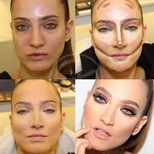 makeup for highlighting and contouring