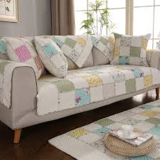 1 pcs quilted 100 cotton sofa cover