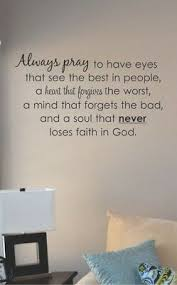 Always Pray To Have Eyes That See Vinyl Wall Art Decal Sticker Home House Decor Ebay