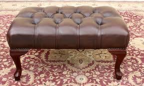 genuine leather chesterfield dark brown