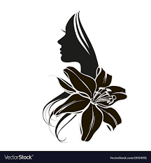s face in flower royalty free vector image
