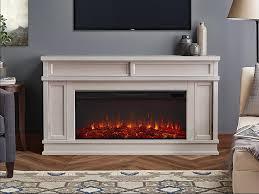 torrey bone white electric fireplace