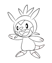 Pokemon Coloring Pages Chespin At Getdrawings Free Download