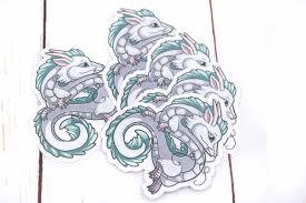 Haku Sticker Spirited Away Dragon Vinyl Sticker 3 Inches Beezeeart