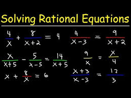 solving rational equations you