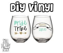 Personalized Bride Tribe Set Of Vinyl Decals Diy Vinyl Stickers Wine Glass Stickers Personalized Bride Bride Tribe Bride Tribe Bachelorette