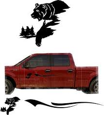 Bear Hunting Trailer Decals Truck Decal Side Set Vinyl Sticker Auto De