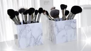 diy marble makeup brush holder easy