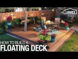 how to build a floating deck you