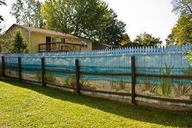 Mural On Fence Beach Style Fence Art Garden Fence Art Fence Design