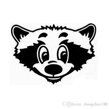 2020 Racoon Face Interesting Catoon Style Car Truck Laptop Decal Black Silver Ca506 From Zhangchao188 0 34 Dhgate Com