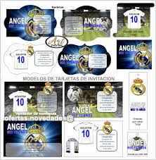 Kit Imprimible Promo 3x1 Real Madrid Cotillon Cumpleanos
