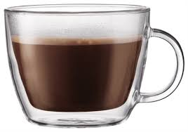 bodum bistro double wall mugs 45l