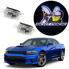 Amazon Com Eastfly Never Fade Door Light Led Logo For Dodge Charger Magnum Projector Ghost Shadow Puddle Courtesy Step Lights 1 Scat Pack Emblem For Charger Automotive
