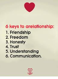 keys to arelationship friendship dom honesty trust