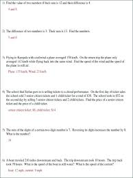 using linear equations to solve