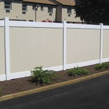 Fence City 6 Ft Country Estates Vinyl Privacy Almond Or Grey