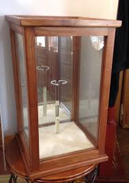 vintage display case for dolls mirror