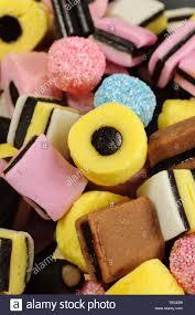Liquorice allsorts fondant and liquorice sweets or candy Stock Photo - Alamy